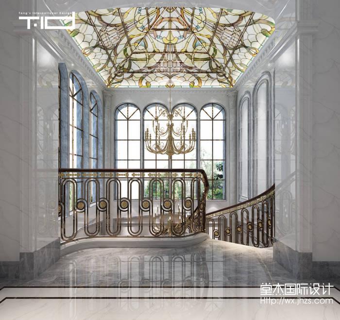 太湖锦绣园580平独栋别墅新奢华风格效果图-新古典