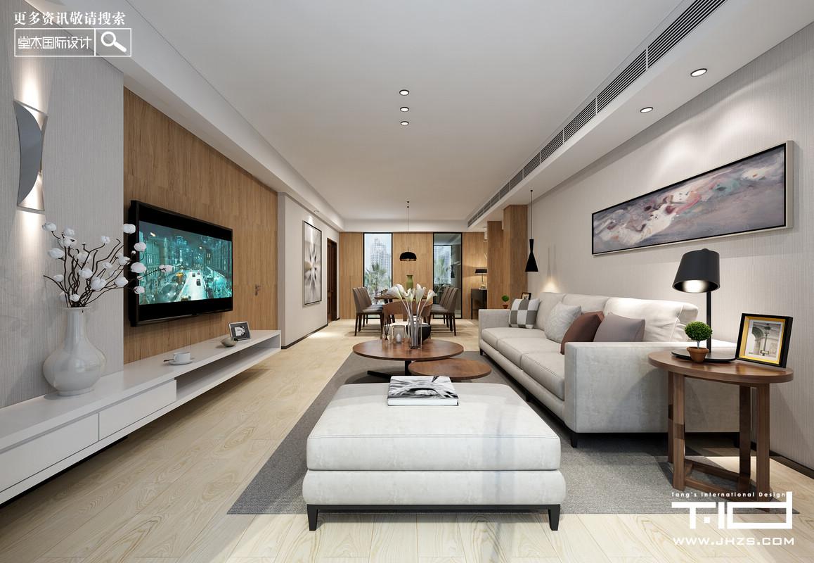 香江豪庭-现代简约-叠加别墅 装修图片