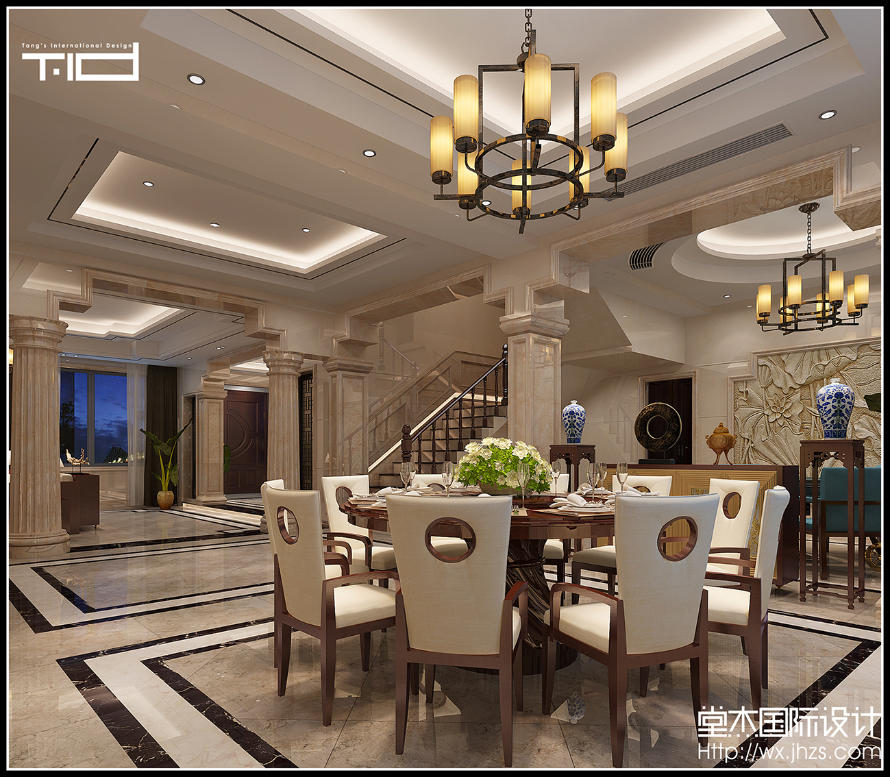 太湖山庄-新中式-独栋别墅 装修图片