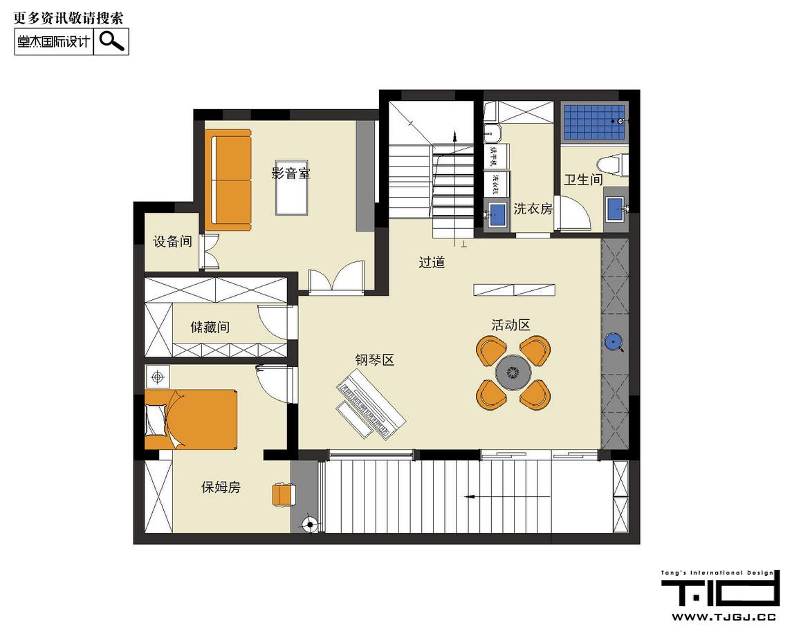 璞樾和山-新中式-叠加别墅 装修图片