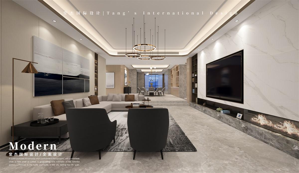 雅居乐滨江国际-现代简约-独栋别墅 装修图片
